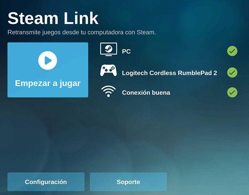 Steam Link Raspbian Empezar a Jugar